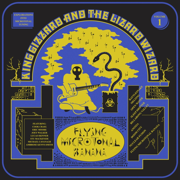 KING GIZARD AND THE WIZARD LIZARD - Flying Microtonal Banana - 800x800